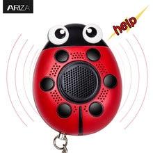 Ariza 130Db self defense SOS emergency personal panic alarm keychain with LED light for women children elderly