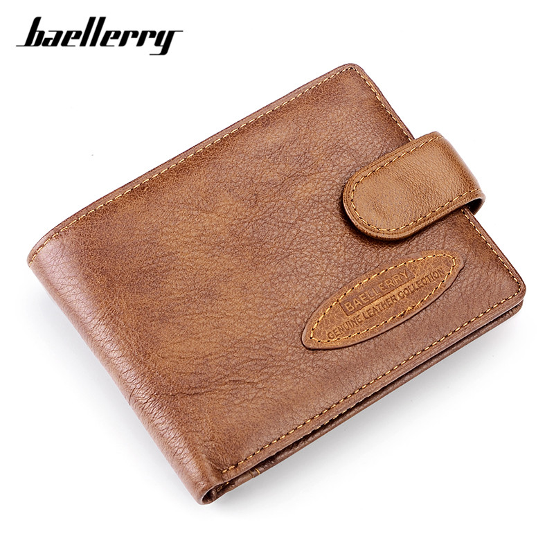 Baellerry 100% Cow Genuine Leather Casual Wallet Men Soft Card Holder Coin Pocket Men's Small Wallets Male Purse Carteira Man contact s thin genuine leather men wallet small casual wallets purse card holder coin mini bag top quality cow leather carteira