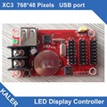 Read to ship Калер XC3 сид платы управления поддержка 768 х 48 пикселей p10 открытый одного цвета светодиодный дисплей модуль панели работает текст