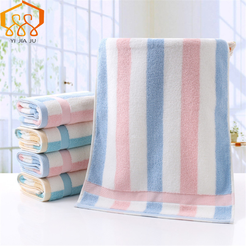 Plaid Stripe Cotton Towel Soft And Absorbent Home Cleaning Size 35*75cm Face Hand Hair Bath Towel Brand Towels Bathroom Hot Sale