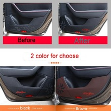 4 unids diy pu car styling protección anti-kick pad pegatina caso de la cubierta de pegatinas para vw skoda superb 2015-16 accesorios