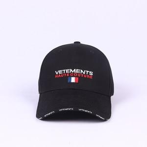 Vetements головные уборы с вышитыми буквами, унисекс, повседневные кепки Vetement, Регулируемые дышащие шапки