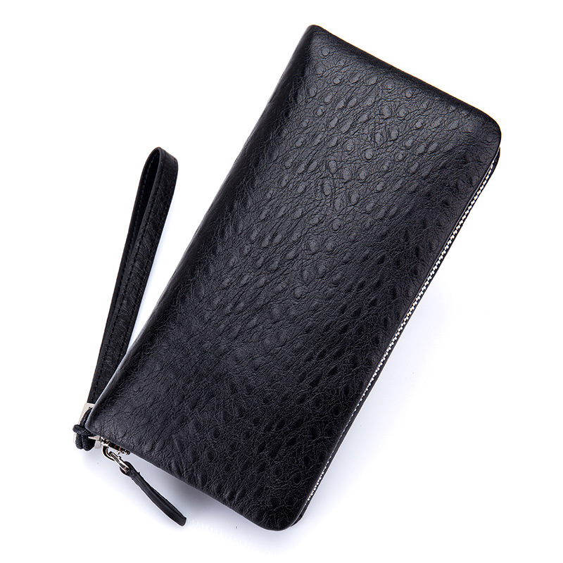 New Fashion Genuine Leather Men Wallet Long Men Clutch High Quality Business Male Wallet Purse ID Card Holder Coin Purse DC318 never leather badge holder business card holder neck lanyards for id cards waterproof antimagnetic card sets school supplies