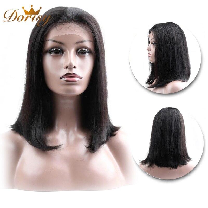 HTB10s1XaOfrK1RjSspbq6A4pFXaA Short Human Hair Wigs Human Hair Wigs Lace Wig Human Hair For Black Women Natural Color 13×2 2# Brown 4# Dorisy Non Remy Hair