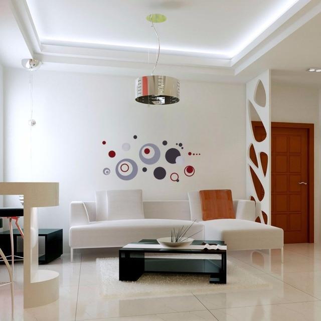 Cercle 3D Diy Stickers Muraux Amovible Coloré Cercle Mur