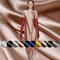 High quality Silk cotton satin 50%mulberry silk 50%pure cotton materials summer dress shirt DIY clothes fabrics Freeshipping