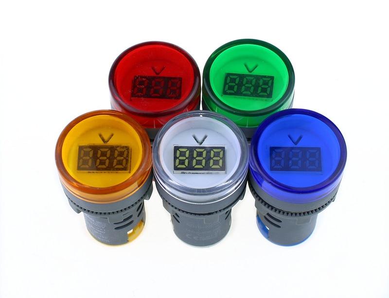 22MM AD16 AD16-22DSV type AC60-500V Mini Voltage Meter LED Digital Display AC Voltmeter Indicator Light/Pilot Lamp