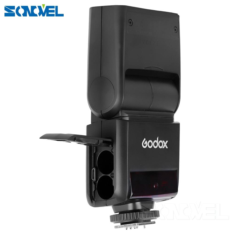 2 * GODOX TT350C 2.4G HSS GN36 TTL Mini flash Speedlite + transmetteur de X1T-C sans fil pour Canon EOS 800D 650D 600D 750D 77D M5 M3 - 3