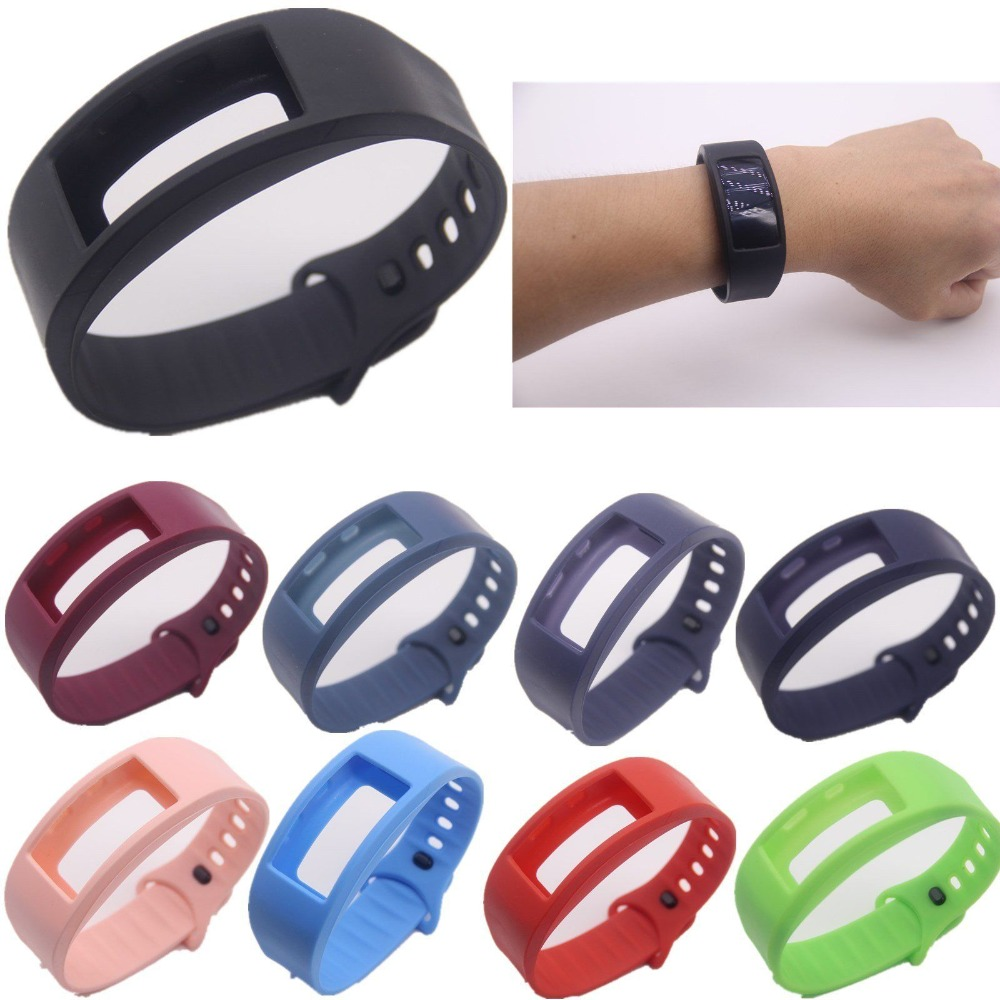 Large/Small Size sport Silicone Replacement Watch Wrist Strap Bands For Samsung Gear Fit 2 R360 Watch band Conjoined watch band eache silicone watch band strap replacement watch band can fit for swatch 17mm 19mm men women