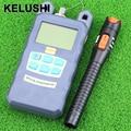 KELUSHI venta Caliente fibra medidor de potencia óptica con 10 mW localizador visual de fallos de plástico 2 en 1 Láser ftth probador herramientas