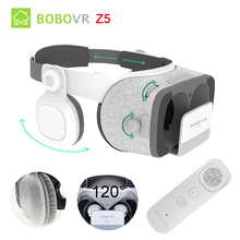 """Bobovr Z5 Daydream стерео 3D очки VR картонный шлем виртуальной реальности телефон гарнитуры поле для 4.7-6.2 """"+ гироскопа VR контроллер"""