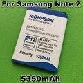 5350mAh EB595675LU battery for Samsung Galaxy Note 2 N7100 Battery E250 Note II LTE N7105 N7102 T889 L900 Verizon i605 note2