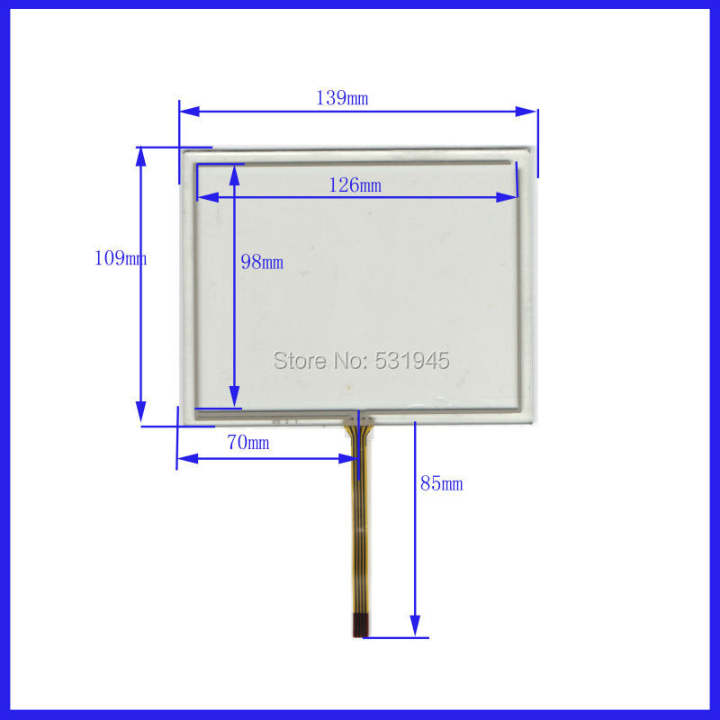 ZhiYuSun New 5.7 Inch Touch Screen 139mm*109mm for 5.7 GPS GLASS 139*109 compatible commercial use zhiyusun new touch screen 364mm 216mm 15 6inch glass 364 216 for table and computer commercial use
