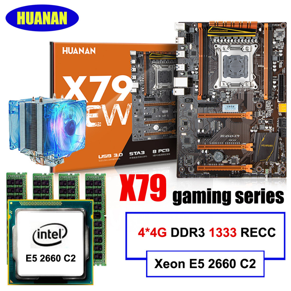 New arrival HUANAN deluxe X79 motherboard LGA2011 Intel Xeon E5 2660 C2 RAM 16G(4*4G) DDR3 1333 RECC support 64G(4*16G) memory high end intel x79 lga 2011 motherboard micro atx lga2011 desktop mainboard usb3 0 ddr3 1333 1600 quad channel max 32g