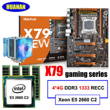 New arrival HUANAN deluxe X79 motherboard LGA2011 Intel Xeon E5 2660 C2 RAM 16G(4*4G) DDR3 1333 RECC support 64G(4*16G) memory