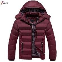 Теплая зимняя мужская куртка, пальто большого размера, M-4XL, Новое поступление, повседневная, тонкая, хлопок, с капюшоном, мужские зимние парки, Casaco Masculino