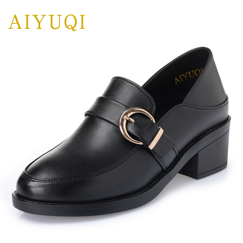 AIYUQI 2018 spring new genuine leather women shoes plus size 41#42#43# comfortable breathable fashion Handmade women's shoes aiyuqi 2018 new spring genuine leather female comfortable shoes bow commuter casual low heeled mother shoes woeme