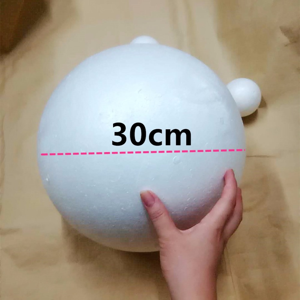 Diy Decor Balls: 30cm 1pcs White Modelling Polystyrene Styrofoam Foam Balls