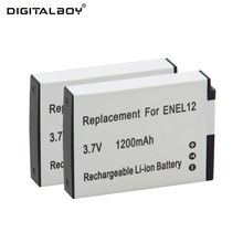 2pcs EN-EL12 ENEL12 EN EL12 Battery For Nikon S8200 S9100 S9200 S9300 P300 P310