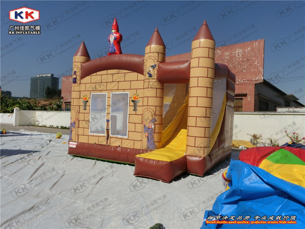 Children Trampoline Inflatable Ghost Castle with Slide Bouncer Combo