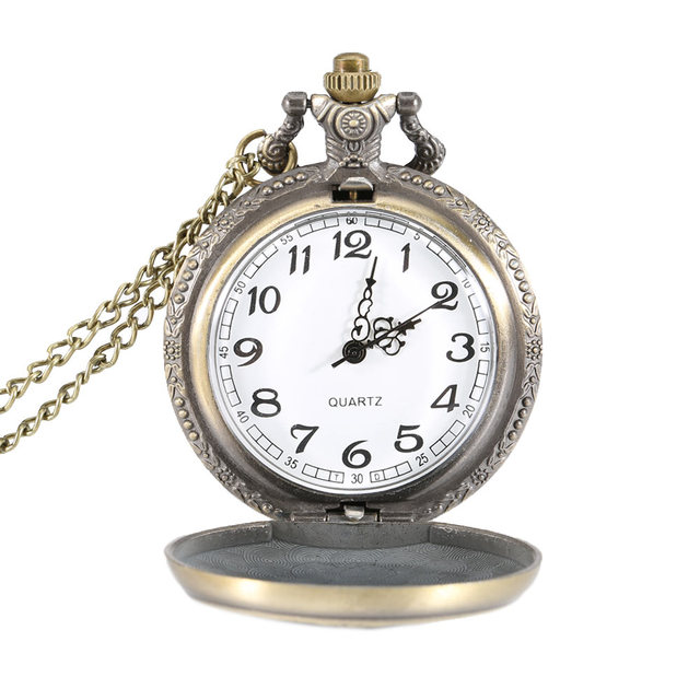 Hot vintage pocket watch fob quartz watches magic wand case pendant hot vintage pocket watch fob quartz watches magic wand case pendant locket necklace chain timer aloadofball Image collections