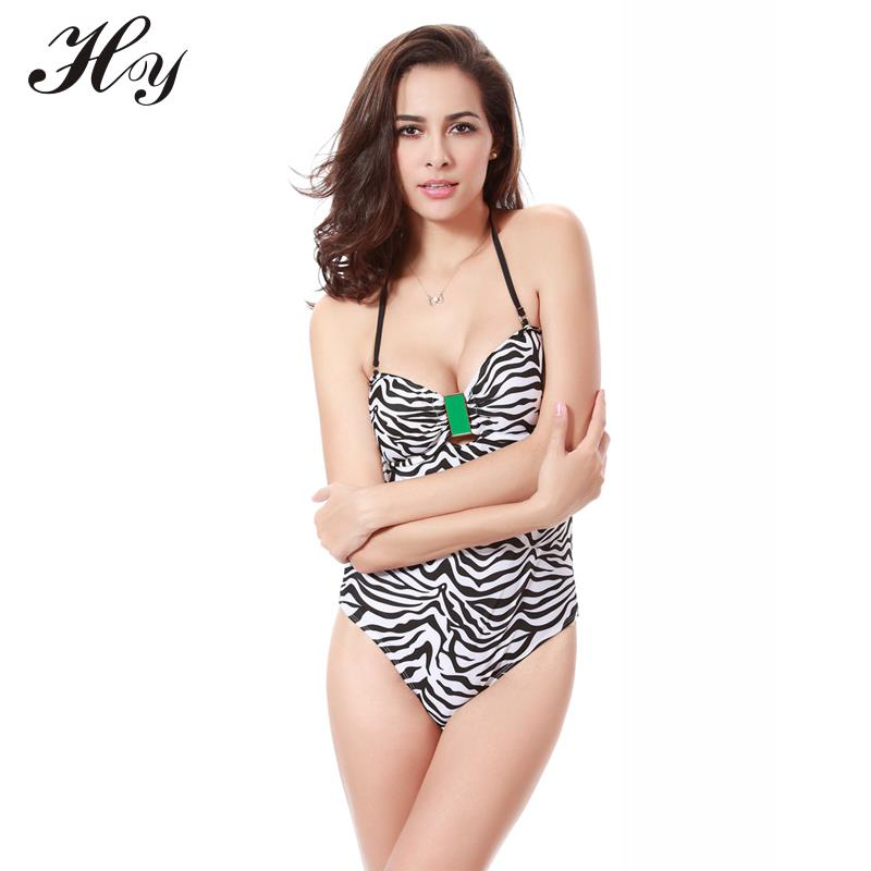 2016 Sexy Leopard Swimsuit Swimwear Push Up Halter Backless Padded Swimsuit For Women Jewelry Ornament Lady Swimsuit
