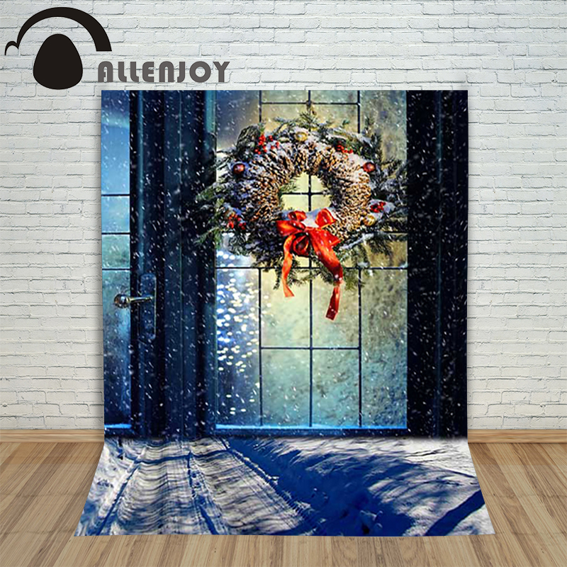 New Year's Background photography studio Christmas Snowflake ring door snowflakes backdrop for photo shoots studio