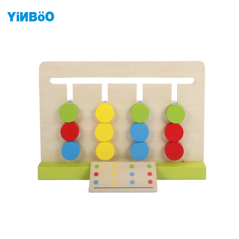 Montessori Educational Wooden Toys For Children Aids 4 Color Count Game Early Learning Kids math toys