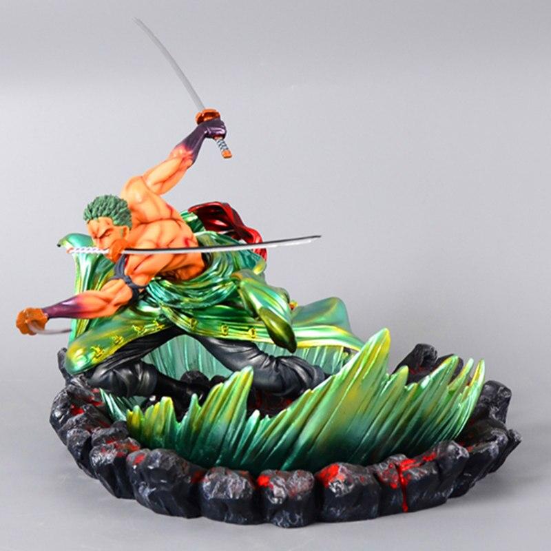 24 cm une pièce Roronoa Zoro Statue trois mille monde bataille ver Figure jouet PVC nouvelle Collection figurine Action jouets cadeau - 2