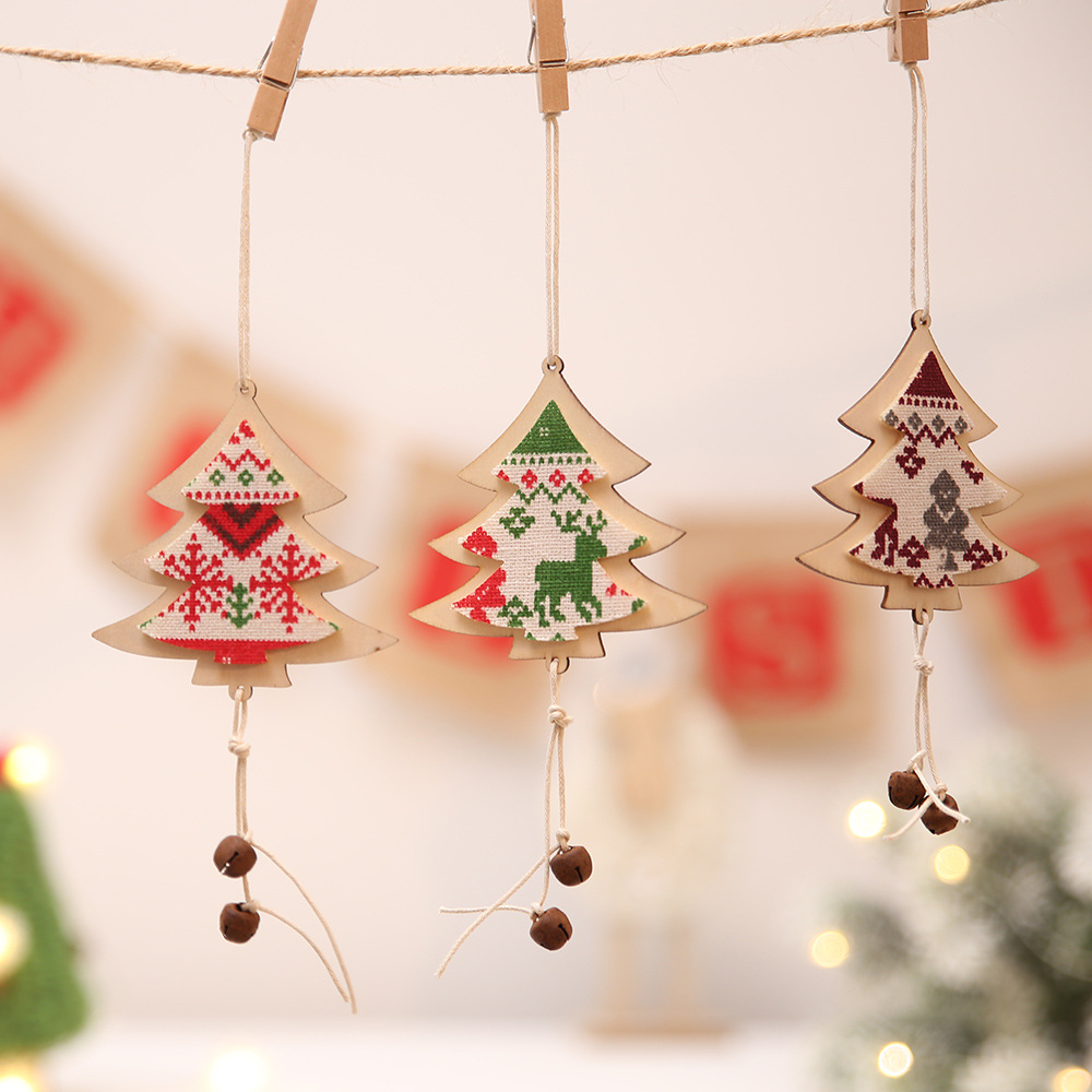 3pcs wooden christmas tree decorations navidad for Decoraciones de navidad para el hogar