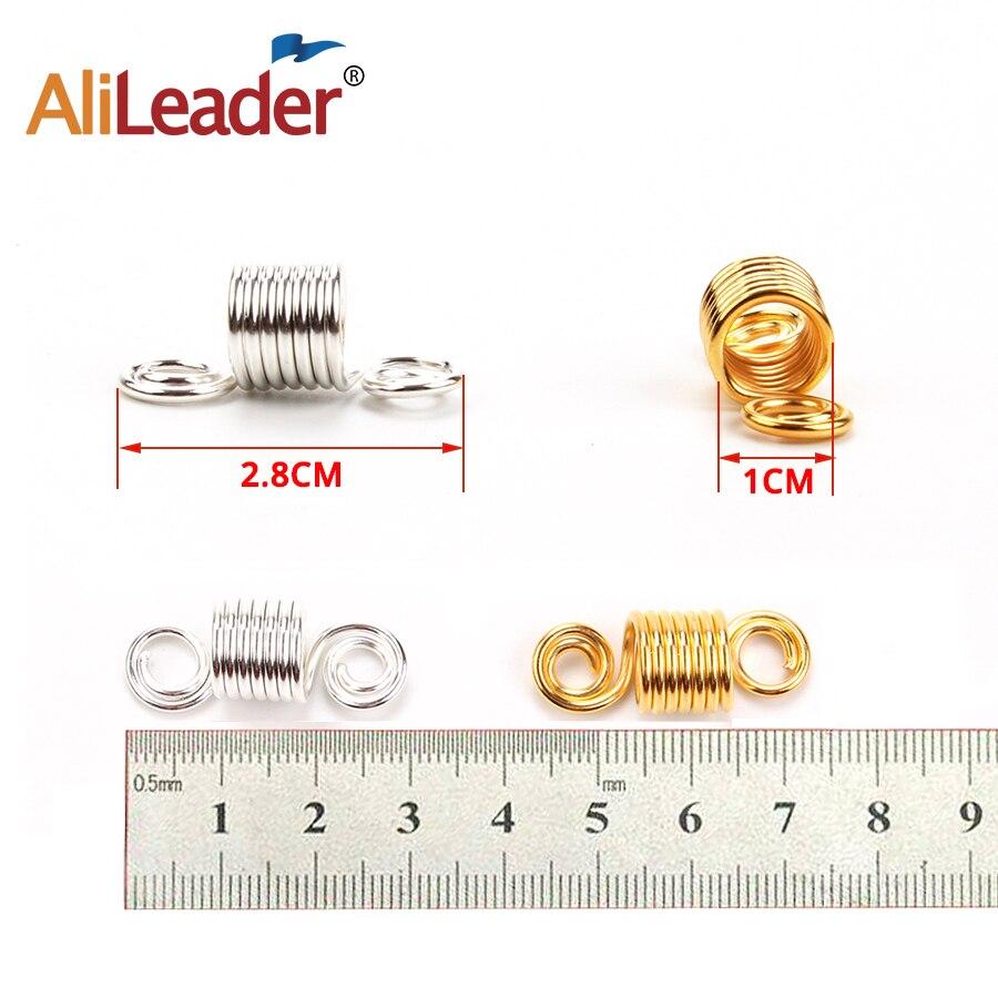 Alileader Dreadlocks Beads Mixed Golden Silver Aluminum Dread Locks Metal Cuffs Hair Decoration Braiding Hair Jewelry