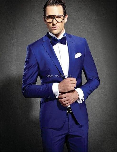 ded885919 Mavi erkekler düğün Takım Elbise slim fit blazer Erkek iş elbisesi blazer  masculino slim fit erkek