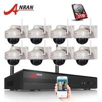 ANRAN 8PCS H 264 8CH Wifi NVR Kit 1080P HD Wireless IP Nightwork Camera Home Security