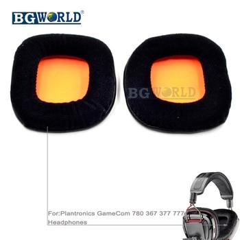 BGWORLD almohadillas de oreja almohadillas de espuma de almohadón funda de almohada para Plantronics GameCom 780 367 377 777 auriculares parte de auriculares