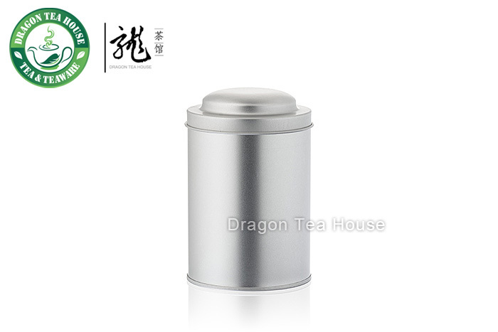 Silver Color Double Lid Tea Tin Metal Canister Coffee Can 470ml 16oz (M)