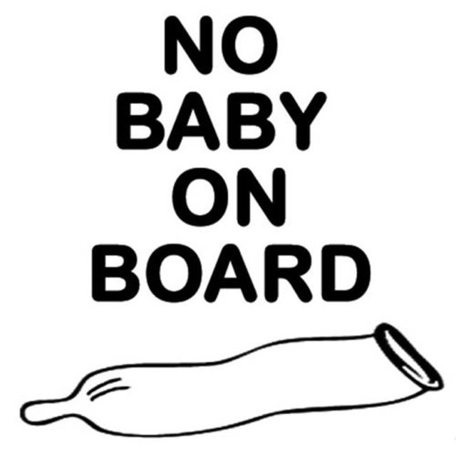 127cm127cm no baby on board used condom funny car stickers accessories c5