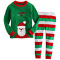2017 Children Christmas Autumn Clothing Set I Love Santa Baby Boys Girls Cotton Pajamas Suits pijama infantil Kids Clothes CF241