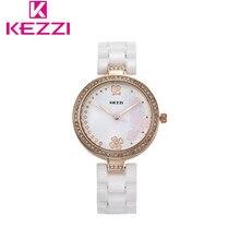 KEZZI Марка Женщины Роскошные Часы Дамы Случайные Водонепроницаемый Наручные Часы Керамическая Стиль Моды Женщин Смотреть Роскошные Horloge Vrouwen