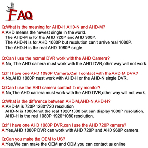 Image 5 - Smar אבטחת CCTV 720P 1080P AHD מצלמה חיצוני עמיד למים Bullet מצלמות יום ולילה מעקב HD 3.6mm עדשת IR לחתוך