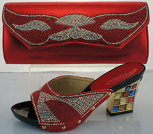 Nigerian Party Shoes And Bag Set Wedding Shoes And Bag High Heels African Shoes And Matching Bag Set For Woman ME2217