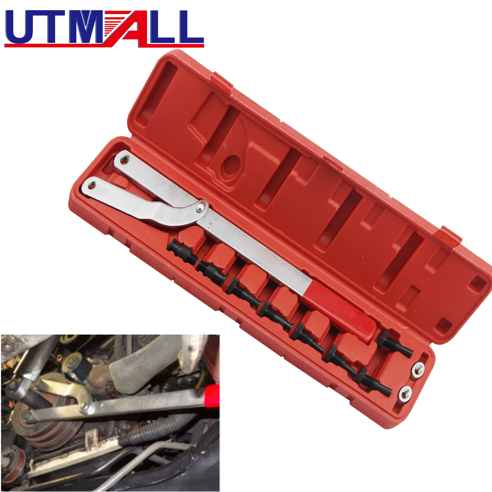 Universal Automotive Camshaft Pulley Fan Clutch Alignment Removal Holder Tool Set