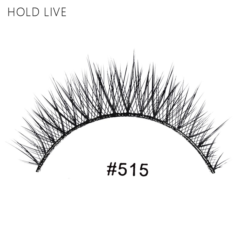 HOLD LIVE New 1Pair False Eyelashes Natural Black Long Cross Hand Made Makeup Eyelash Ex ...