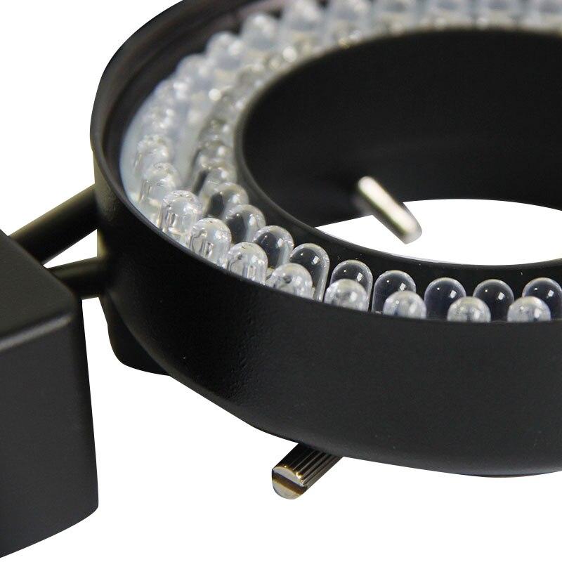 Luckyzoom Профессиональный Микроскоп Осветитель 72 светодиодной подсветкой свет Регулируемый Светодиодная лампа кольцо света w/адаптер