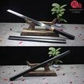 T10 Steel Shirasya  прямые японские Самурай  катана/Wakizashi  глина  закаленный настоящий меч  Распродажа со скидкой