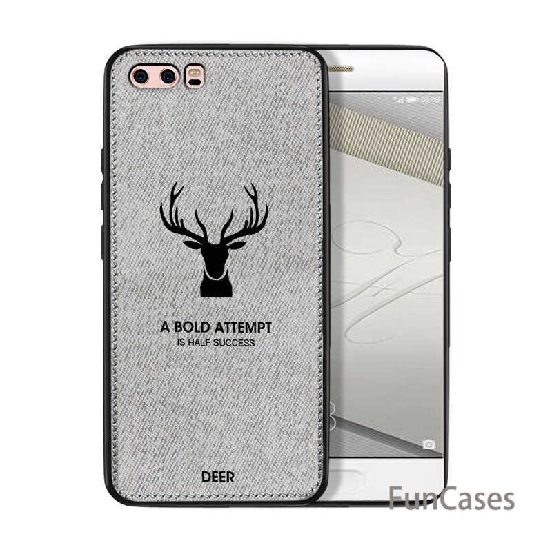 スリムクリスマス鹿の布電話ケース Huawei 社の名誉 7 × 6 × 8 9 10 高級レトロな布ケースメイト 20 Lite P20 1080p スマートプラスノヴァ 3i