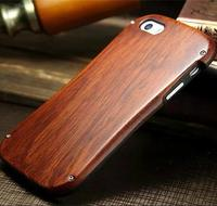 Metal Wood Cell Phones Element Cover Case For IPhone SE 5 5S 6 6s 4 7