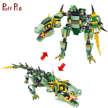 568pcs Ninja Movie Mech Deformation Robot Building Blocks Technic Bricks Educational Toys Kids Gift