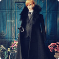 New Arrival 1/3 SD BJD Handsome Black Cashmere Coat Men's clothing Double-breasted