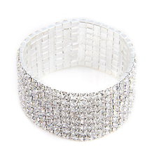 27mm Silver Plated Bracelet Bangle Rhinestone Jewelry