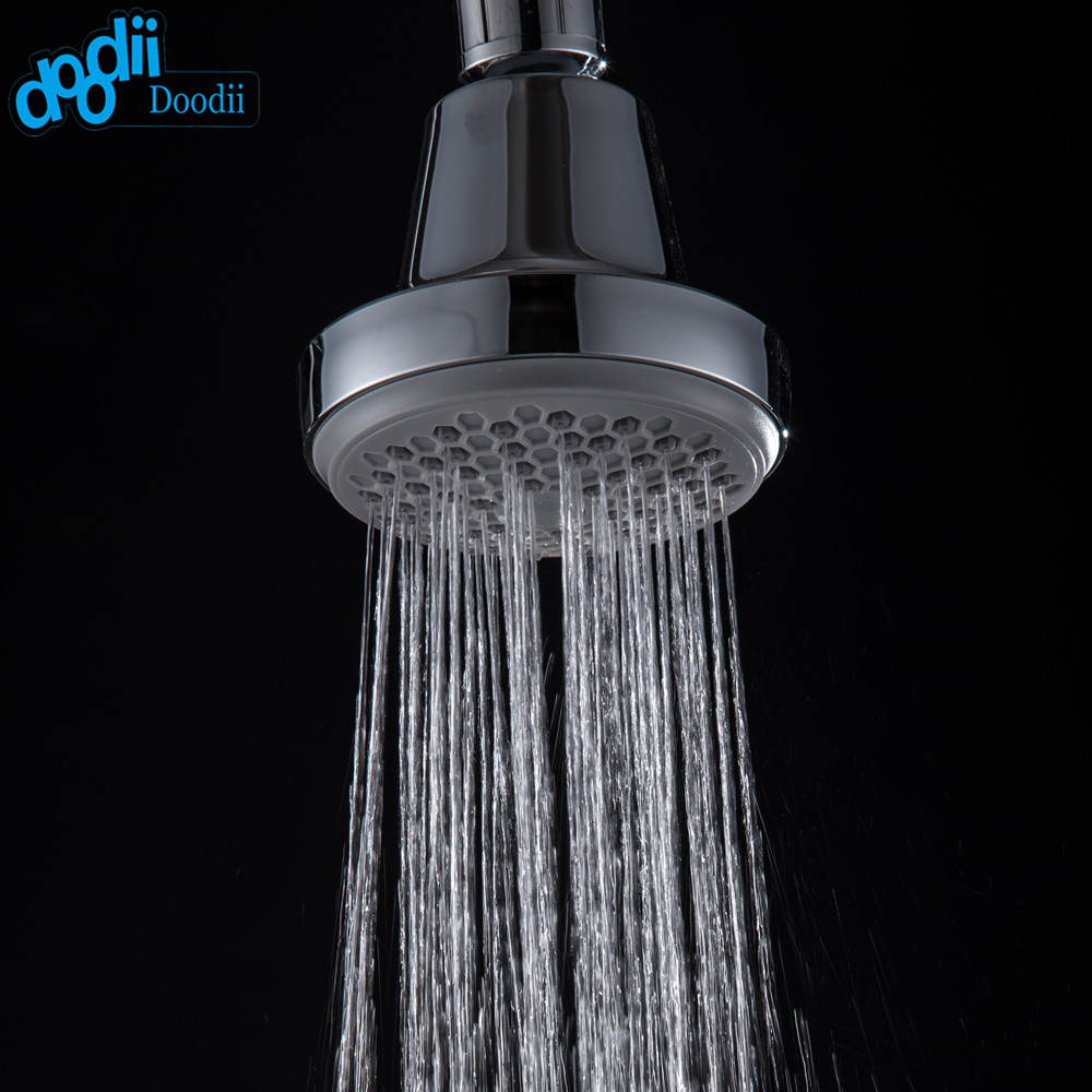 modern shower head promotionshop for promotional modern shower  - doodii modern abs water saving bathroom shower head bathroom accessoriesoverhead shower plastic rainfall round chrome finish
